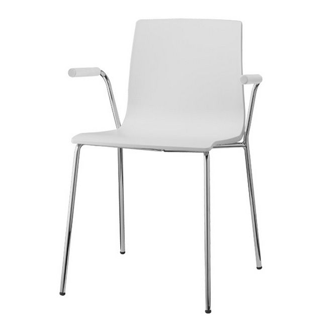 Scab chairs with arms open Alice, stackable