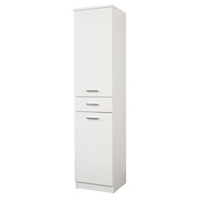Single column left Classica 34 cm with doors, drawer and shelves Savini
