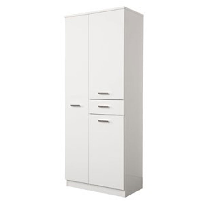 Double column Classica L 60 cm with doors, drawer, shelves and laundry basket Savini