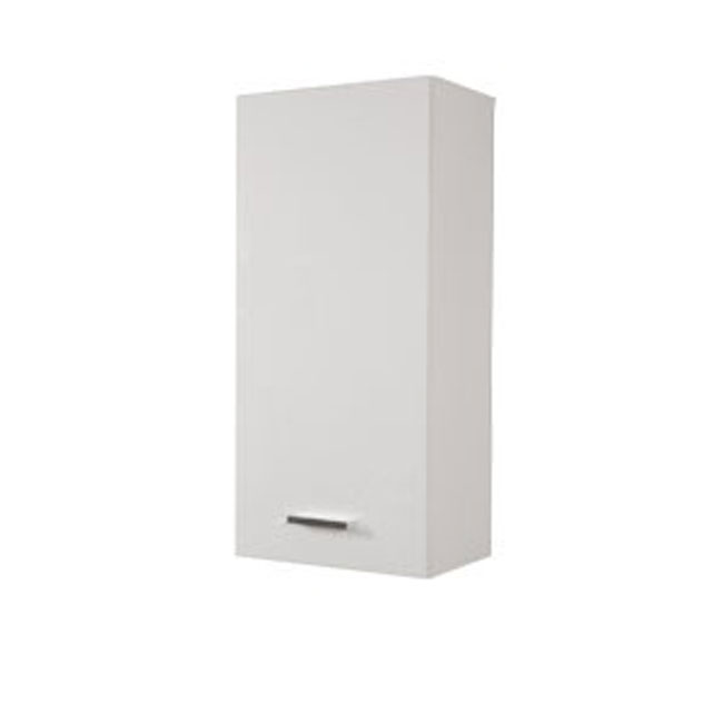Single wall cabinet left Classica L 34 cm with door and shelves Savini