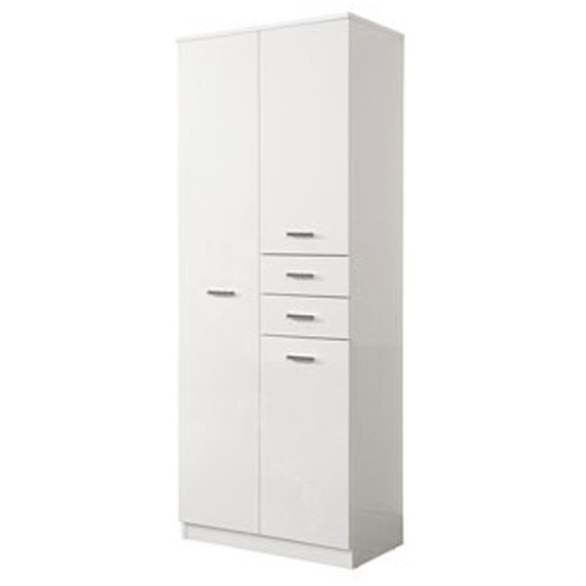 Double column Classica L 69 cm with doors, drawers, shelves and laundry basket Savini