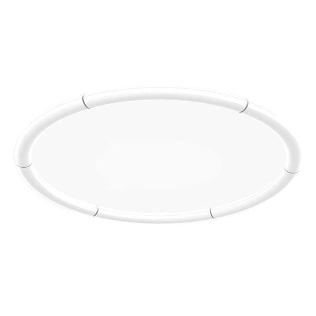 Artemide Alphabet of Light Circular Wall/Ceiling lamp LED 91W Ø 155 cm Dimmable