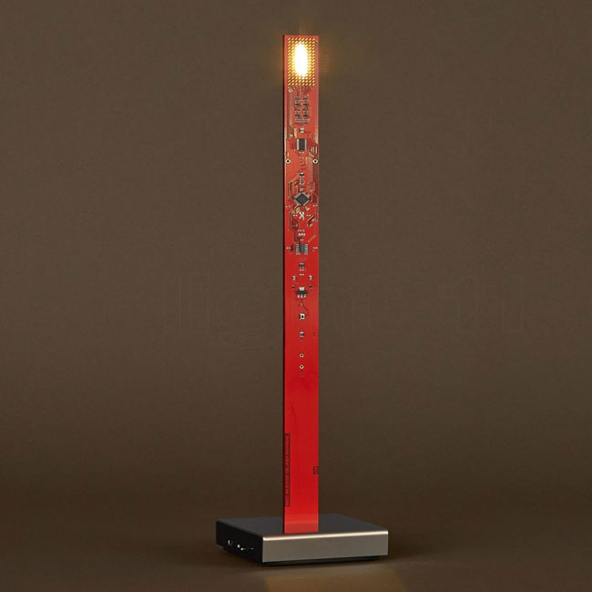 Table lamp with rechargeable battery Ingo Maurer My New Flame LED 0.6W H 40 cm Dimmable red