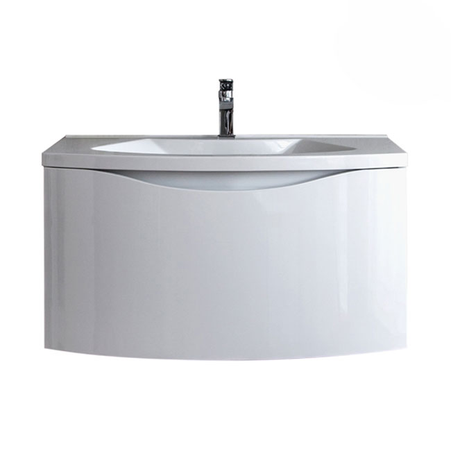 Tomasucci Suspended bathroom cabinet with sink B075 L.80 x H.43 cm
