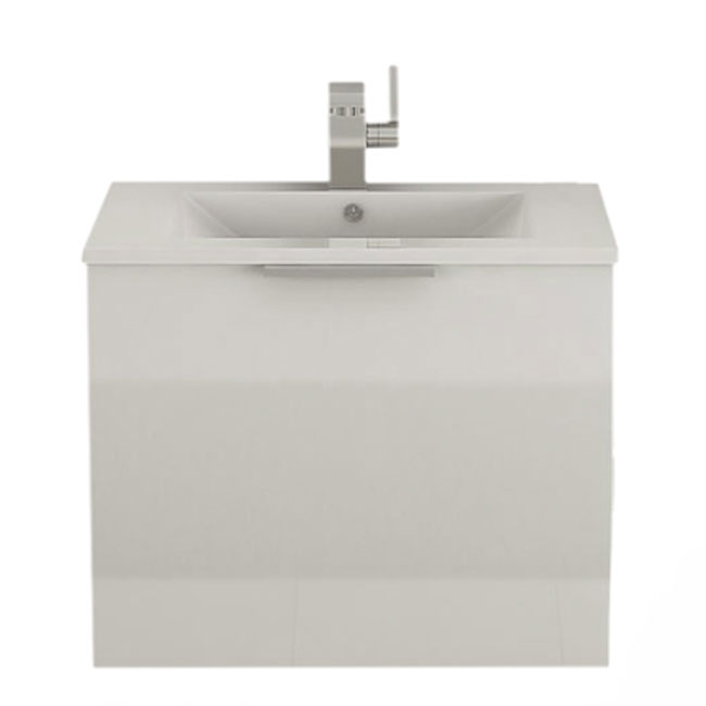 Tomasucci Suspended bathroom cabinet with sink B079 L.60 x H.51 cm
