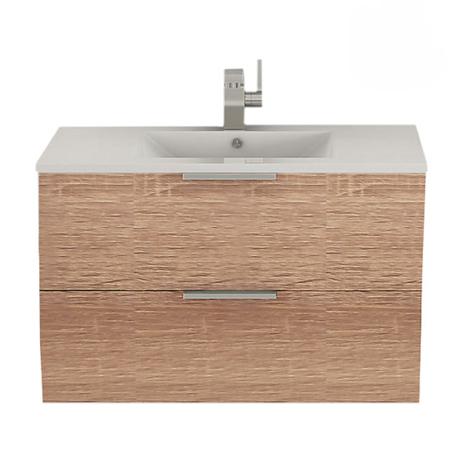 Tomasucci Suspended bathroom cabinet with sink B082 L.80 x H.51 cm
