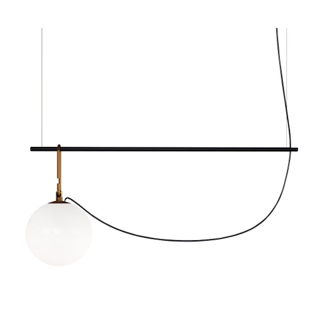 Artemide suspension lamp Nh S2 22 1 luce E27 L 90.5 cm dimmable