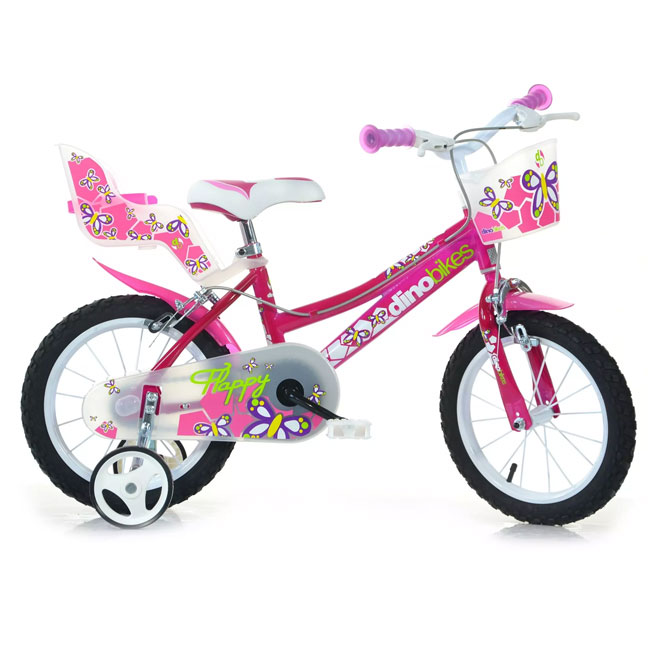 "BIKE  FOR GIRL 16"" FLAPPY 2 BRAKES DINO BIKE"