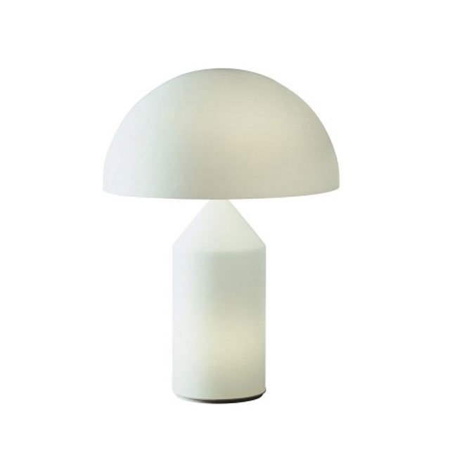 OLuce table lamp Atollo vetro 3 luci E14 H 35 cm