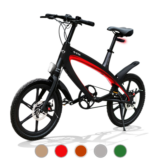 E-City Bike V-ITA Evolution Masterpieces with black frame bluetooth technology