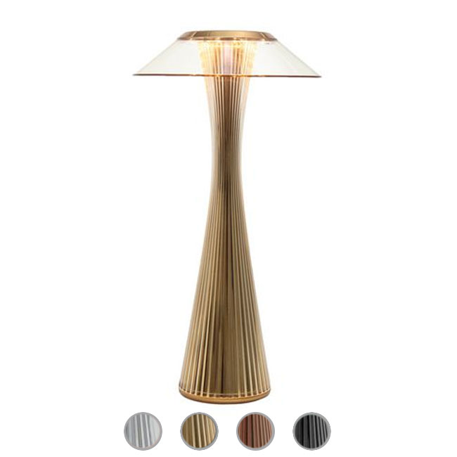 Rechargeable table lamp Kartell Space LED 1,6 W H 30 cm