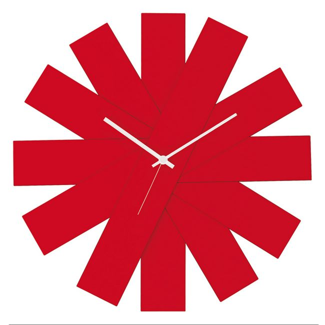 Creativando Orologio da Parete Rosso Rock Around The Clock ø40cm