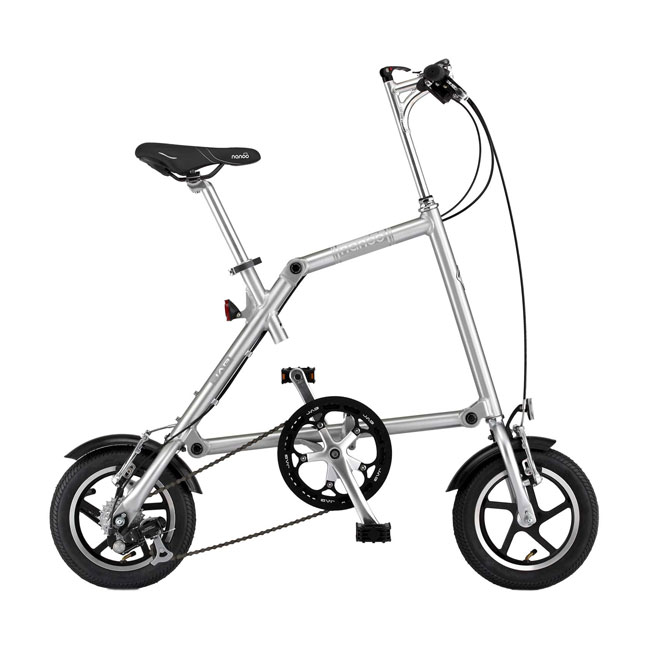Folding bike Nanoo FB 12'' Brushed Aluminum in 10 seconds