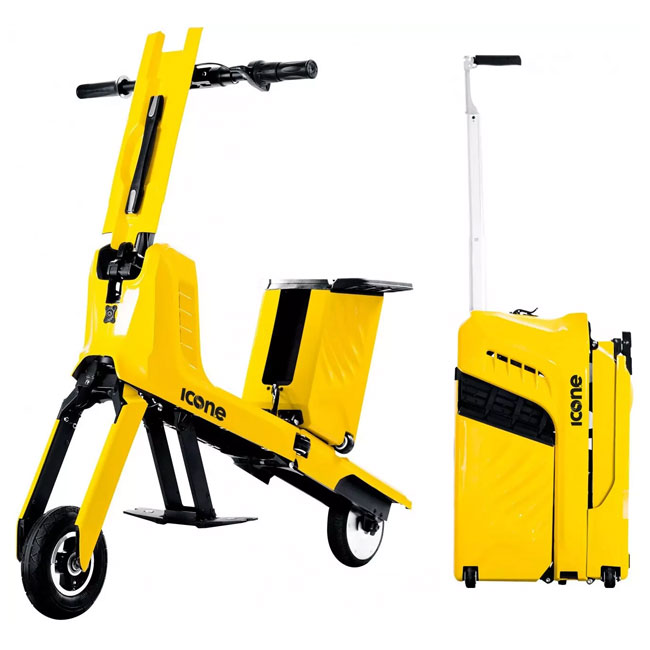 Electric Scooter Folding Trolley Icon.e in 1 minute