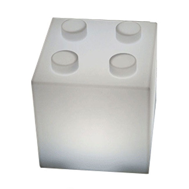 Rechargeable battery lamp portable Smart & Green Cube² LED RGB + WHITE H 30 cm