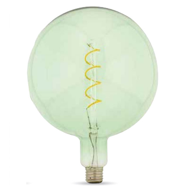 Bulb Vintage LED Filament Curved Smeraldo 5W E27 2000K 220/240V Ø 20 cm soft green dimmable DLItalia