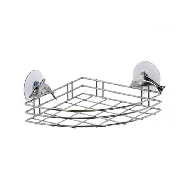 Tomasucci Corner wall shelf with Dolphin suction cups L 19 x P 19 cm