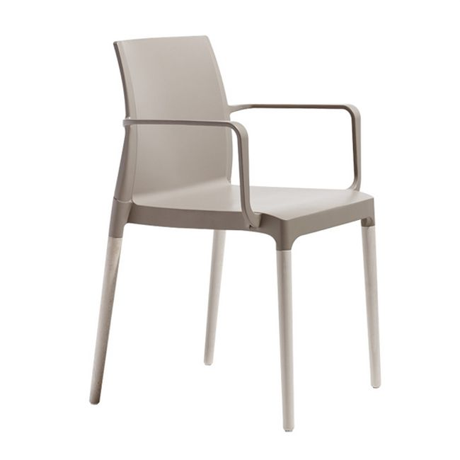 Scab chairs with armrests Natural Chloé Mon Amour, stackable