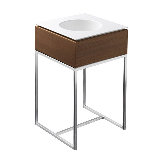 Axa One Structure with square ground washbasin Skyland L 48x48 cm