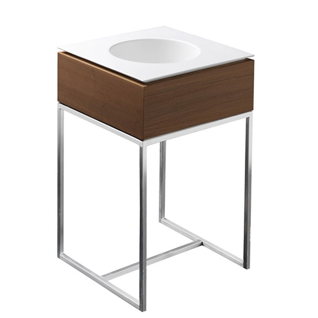 Axa One Structure with square ground washbasin Skyland L 55x55 cm
