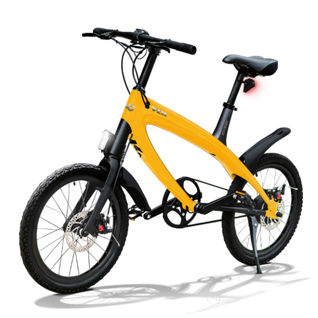 E-City Bike V-ITA Smart Solid with USB-Yellow input