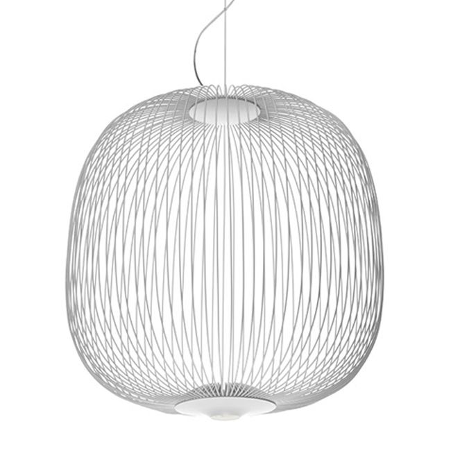 Foscarini Suspension Spokes LED Dimmable Ø 52 cm White