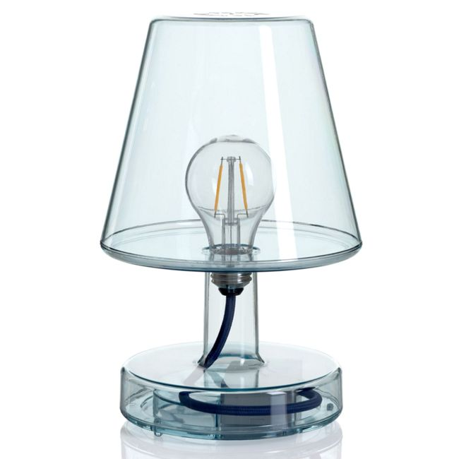 Rechargeable table lamp Fatboy Transloetje LED 2 W H 25.5 cm Dimmable Light blue