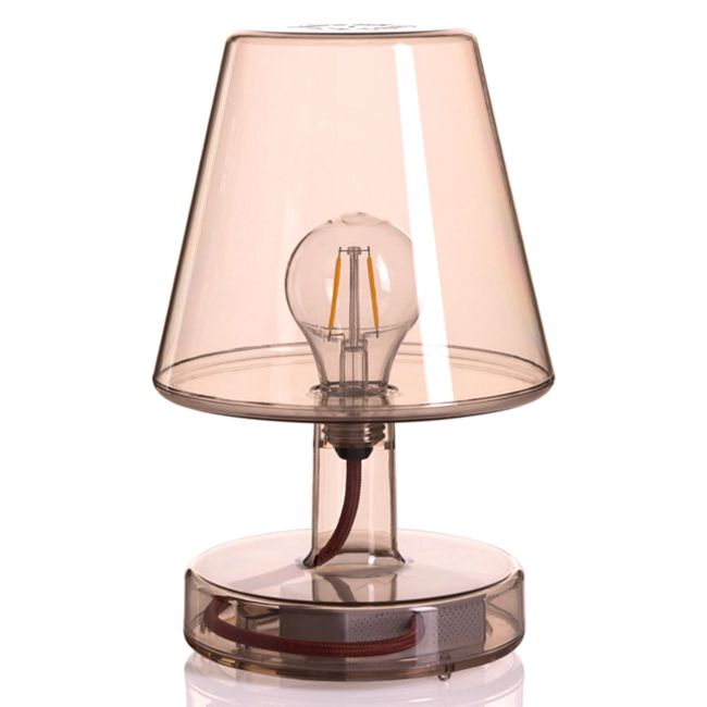 Rechargeable table lamp Fatboy Transloetje LED 2 W H 25.5 cm Dimmable Brown