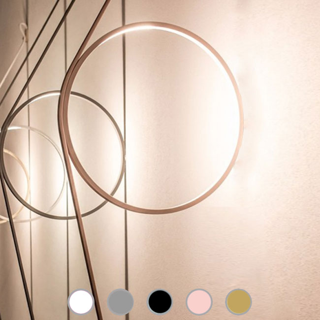 Flos wall lamp Wirering Rosa LED 16W Ø 31 cm dimmable