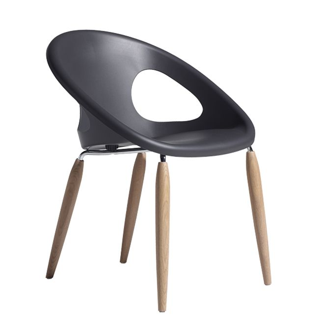 Scab Chair Natural Drop H 78 cm - With solid wood legs