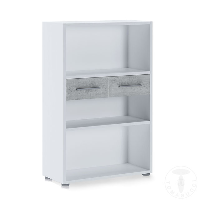 Tomasucci Low Bookcase L 80 cm with two drawers Pier Small
