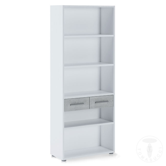 Tomasucci Tall Bookcase L 80 cm with two drawers Pier Big