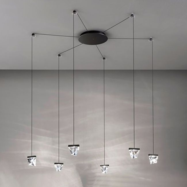 Fabbian pendant lamp Tripla LED 25,8W L 9,8 IP40 Dimmable