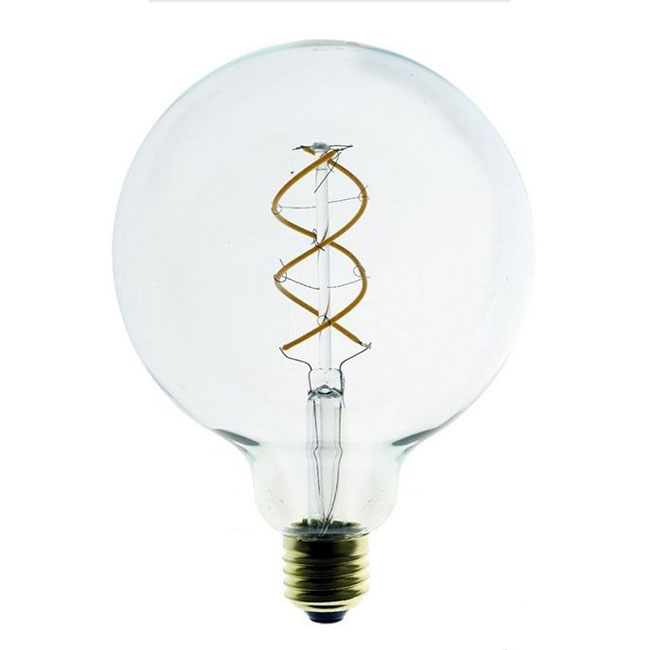 Bulb Vintage LED Filament Curved Clear G125 5W E27 2200K 220/240V Ø 12.5 cm clear dimmable DLItalia