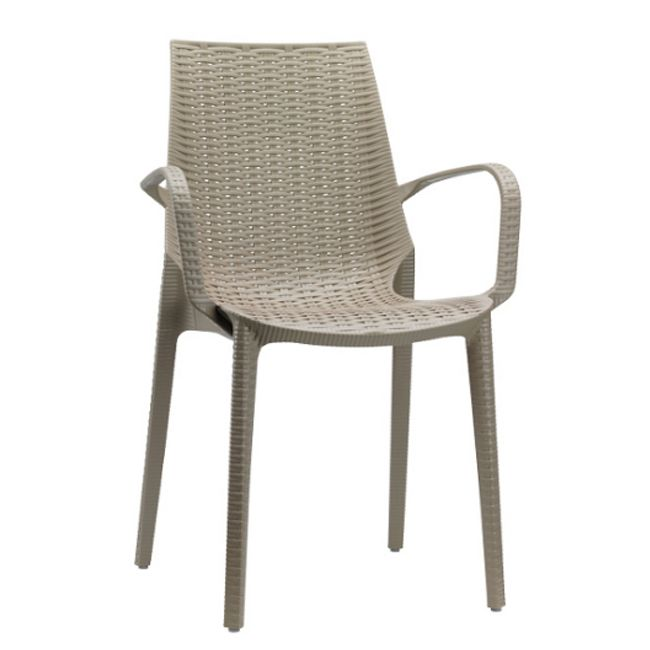Scab chairs with armrests Lucrezia, stackable, also for garden