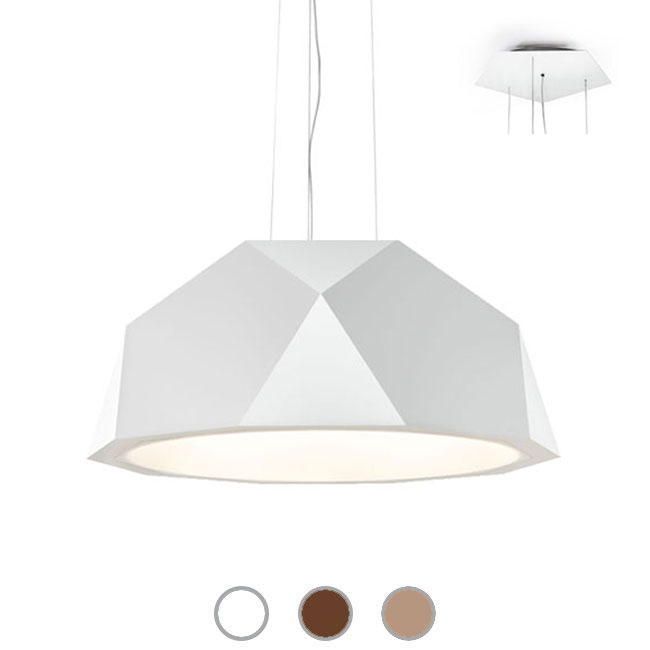 Fabbian Suspension lamp Crio Ø 57,2 cm LED 52,5W dimmable