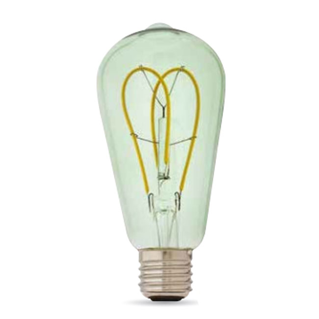 Bulb Vintage LED Filament Curved Smeraldo ST64 5W E27 2200K 220/240V Ø 6.4 cm soft green dimmable DLItalia