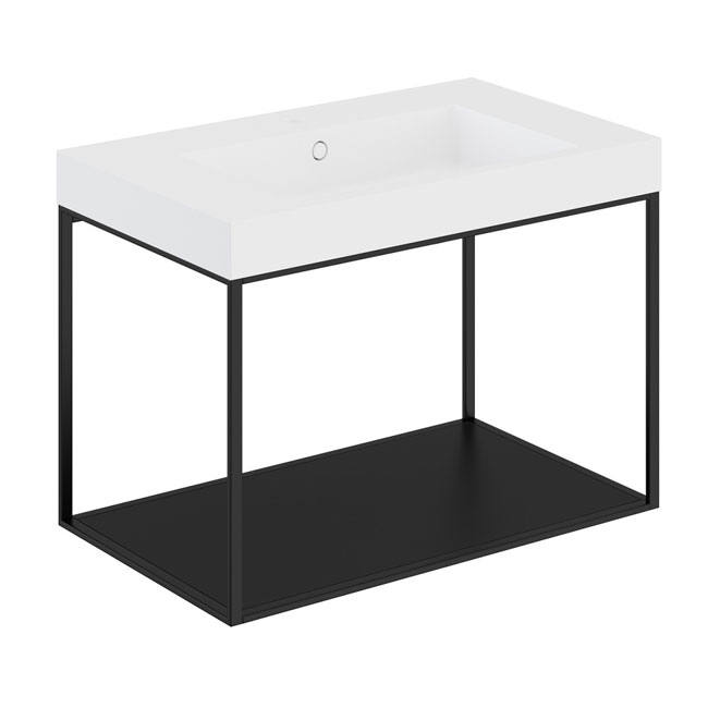 Cosmic The Grid Evo Washbasin+lower Unit with Fixed Shelf 79.6cm