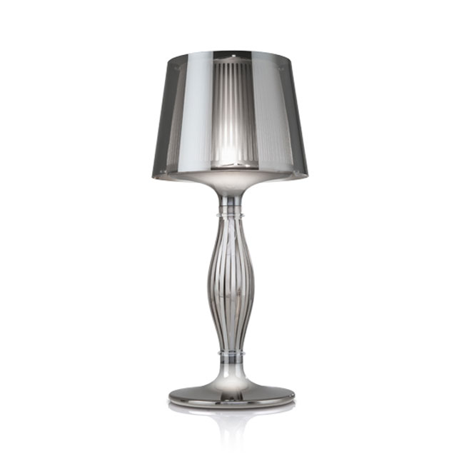 Slamp Table lamp Liza Pewter 1 luce E17+LED 1.5W H 70 cm