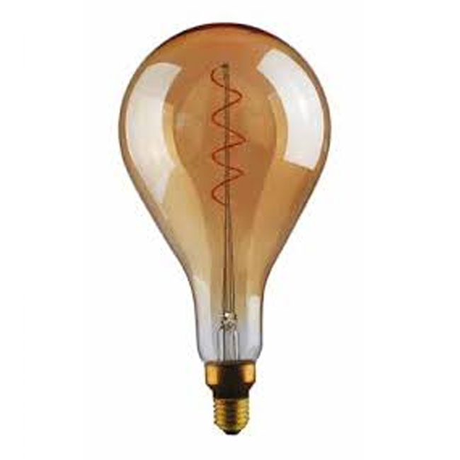 Bulb Vintage LED Filament Curved A165 5W E27 2000K 220/240V Ø 16.5 cm gold dimmable DLItalia