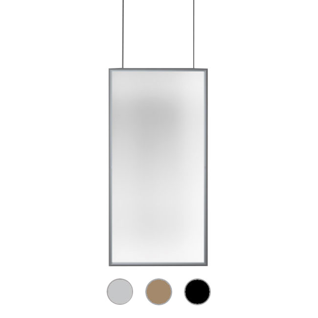 Artemide Pendant lamp Discovery Space Rectangular LED 53W H 150 cm Dimmable - Compatible with application