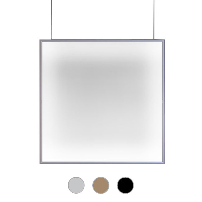 Artemide Pendant lamp Discovery Space Square LED 32W L 90 x H 90 cm Dimmable - Compatible with application