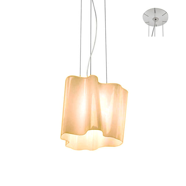Artemide Logico Mini Suspension 1 Light E27 LED L 40 cm Dimmable Tobacco