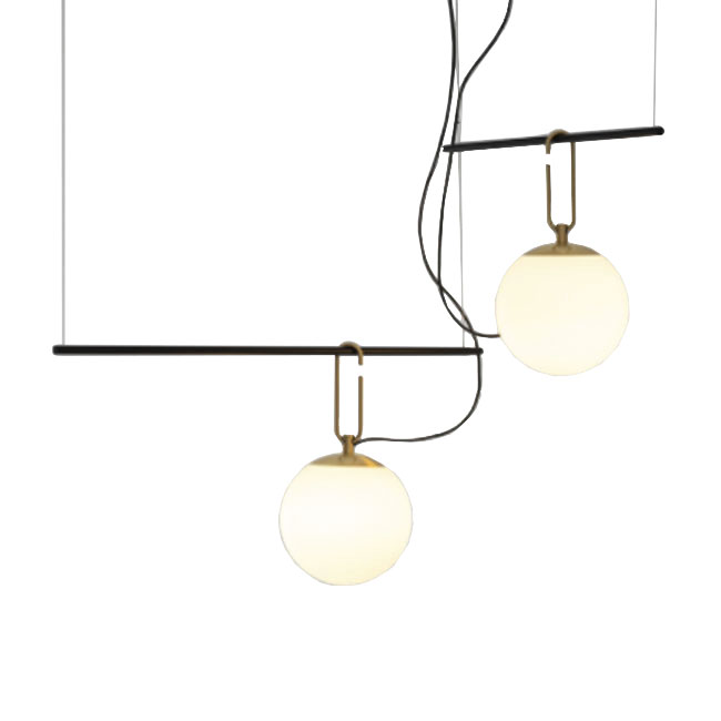 Artemide Pendant lamp  Nh S3 2ARMS 2 Lights E27 Ø 134 cm Dimmable