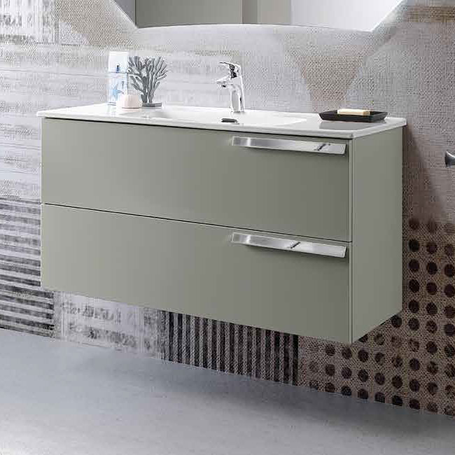 Modo Mobile with Malibù wall hung washbasin L 100x46 cm