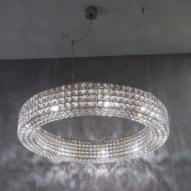 Marchetti Crystal Pendant lamp Calipso G9 (Chrome)