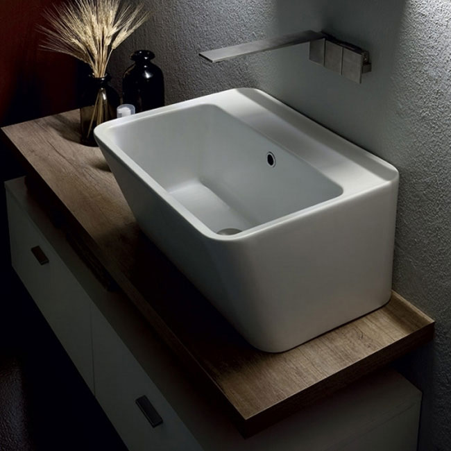 Colavene Wynn bathroom composition 100 cm suspended shelf and washbasin