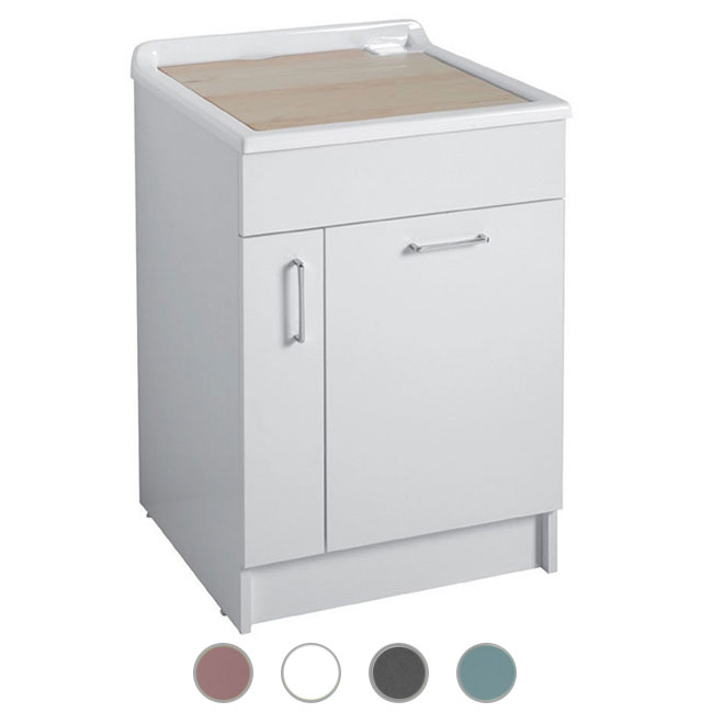 Colavene Jollywash 60x50x86 sink with sliding and removable laundry basket