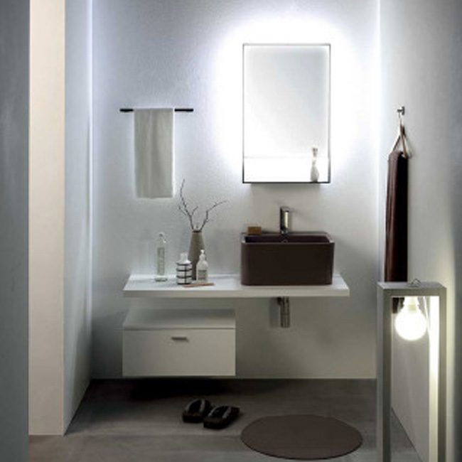 Colavene Wynn 120 cm bathroom composition suspended with sink, cabinet and backlit mirror