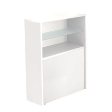 Pezzani Bookcase with folding table and 6 folding chairs (mixed colors) Archimede + First White